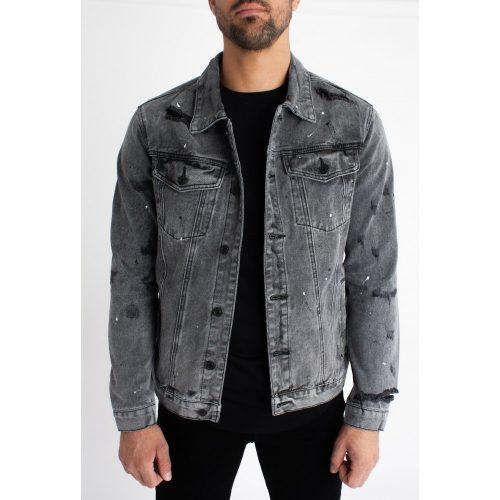 Graphite Slim Fit Denim Jacket - szürke farmerkabát - Méret: S