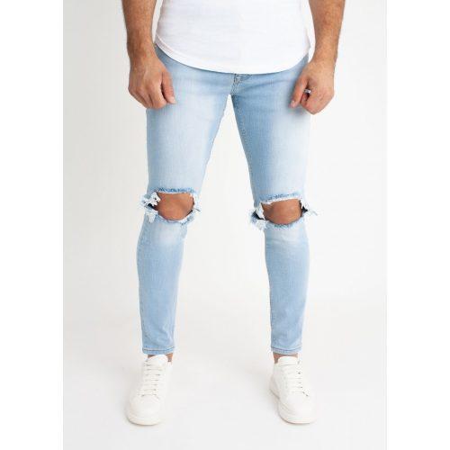 Blue Torn Jeans - világoskék farmernadrág - Méret: 32