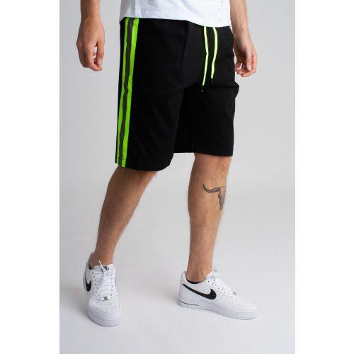 Giallo Reflective Short - fekete oldalcsíkos rövidnadrág - Méret: M