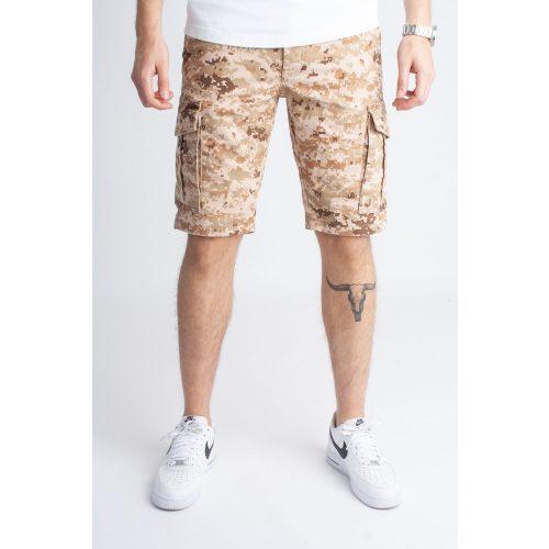 Camouflage Pixel Short - terepmintás oldalzsebes short - Méret: 34