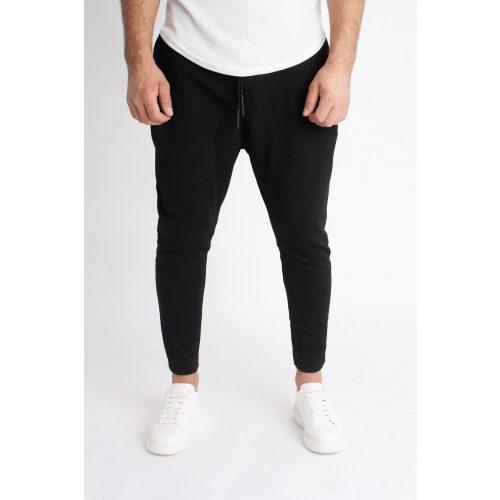 Lazy Black Pants - fekete szövetnadrág - Méret: XL