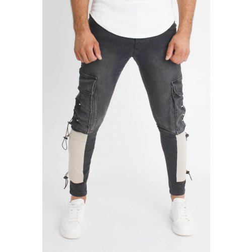 Gate Cargo Jeans - oldalzsebes farmer - Méret: 33