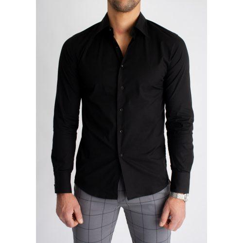 Black Super Skinny Shirt - fekete ing - Méret: XXL