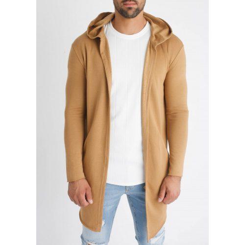 Brown Hooded Cardigan - barna kapucnis kardigán - Méret: M