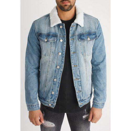 Denim Guard Jacket - bélelt farmerdzseki - Méret: S