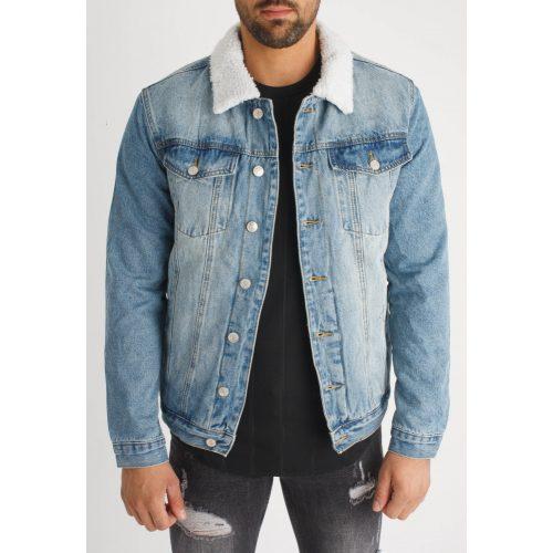 Denim Guard Jacket - bélelt farmerdzseki - Méret: M