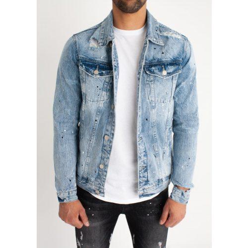 Blue Slim Fit Denim Jacket - kék farmerkabát - Méret: S