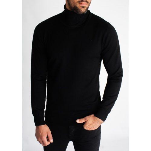 Black Turtleneck - fekete garbó - Méret: XL