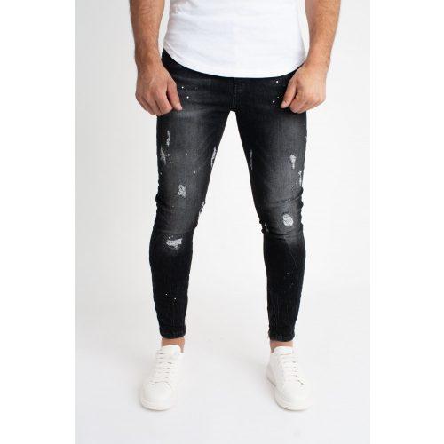 Dark Ankle Zipper Jeans