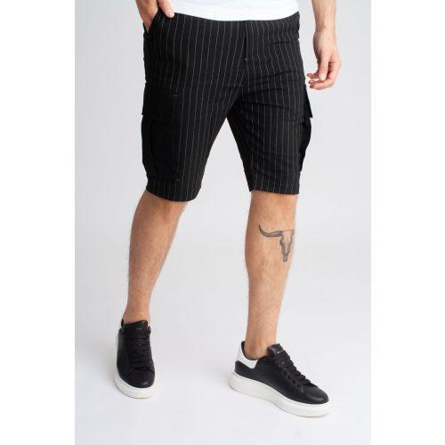 Streak Black Short - fekete oldalzsebes rövidnadrág - Méret : 38