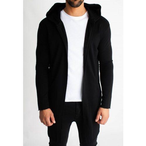 Black Hooded Cardigan