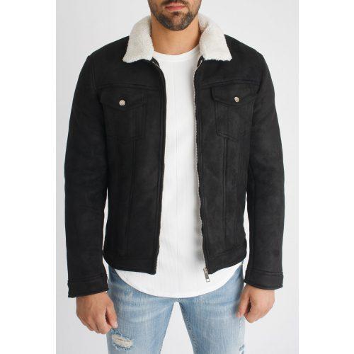 Black Byzantine Jacket - plüssel bélelt dzseki - Méret: S