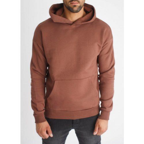 Rusty Hoodie - barna kapucnis pulóver - Méret: S