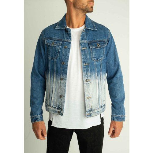 Bleach Denim Jacket - kimart farmer kabát - Méret: XXL