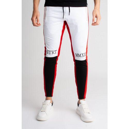 White/Black/Red Zip Jogger - melegítőnadrág - Méret: XL