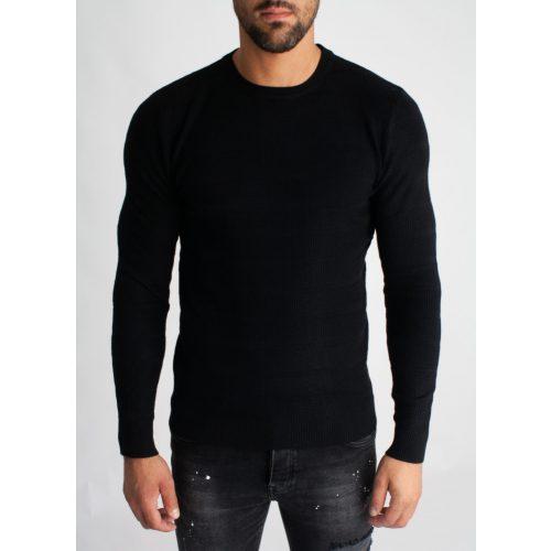 Black Basic Longsleeve - fekete hosszú ujjú póló - Méret: XXL